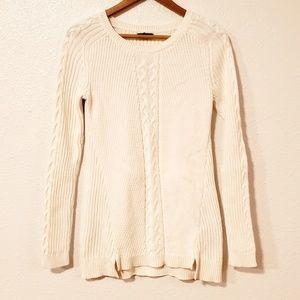 Nautica White Long Sleeves Sweater